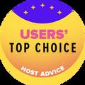 Dodeljuje se kompanijama za veb-hosting među prvih 10 sa najvećim korisničkim rejtingom.
